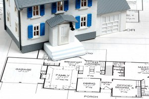Blueprints and model home for the design/build process